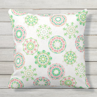 Pink Hawaiian Ice Snow Tropical Hibiscus Gold Foil Throw Pillows