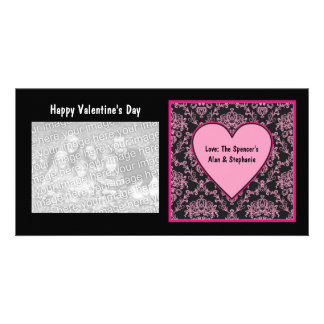 Pink Lace Valentine Photo Cards