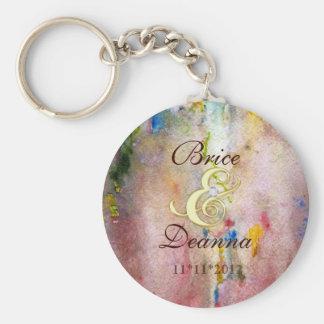 Pink Mist Gold Wedding Favor Keychain