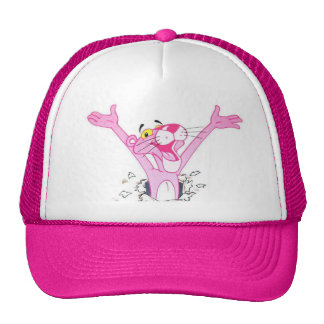 pink panther trucker hat