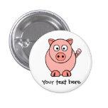 Pink Pig 1 Inch Round Button