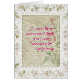 Pink Roses Mother Sympathy Card