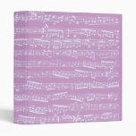Pink Sheet Music 3 Ring Binders