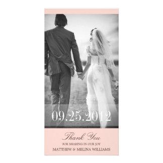 PINK  THANK YOU | WEDDING THANK YOU CARD CUSTOM PHOTO CARD