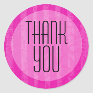 Pink Vintage Background Thank You Stickers