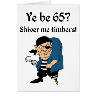 Pirate 65th Birthday Greeting Card