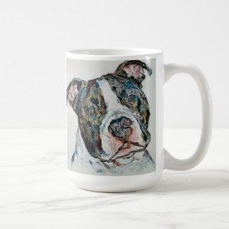 PITBULL CUP CLASSIC WHITE COFFEE MUG
