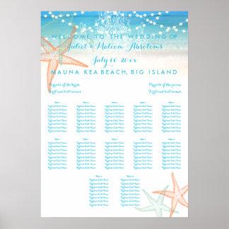 PixDezines Beach/Chadeliers/Seating Chart Poster