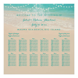 PixDezines Chandelier/Beach/Seating Chart Poster