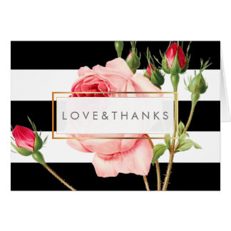 PixDezines Vintage Roses/Redoute/Thank You Note Card