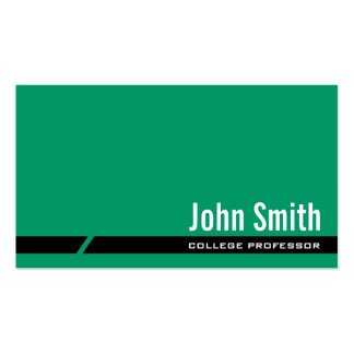 Plain Green Black Stripe Professor Business Card