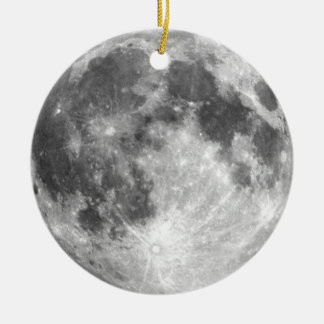 PLANET EARTH'S MOON (solar system) ~ Round Ceramic Ornament