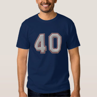 Player Number 40 - Cool Baseball Stitches Tshirts