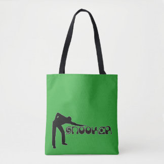 PLAYING SNOOKER modern font + your ideas Tote Bag