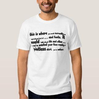Pointless stuff tee shirt