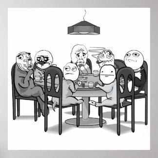 Poker Meme Dogs Poster