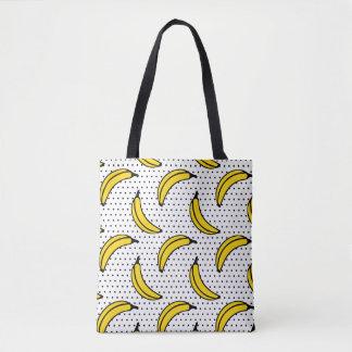 Polka Dot Banana Pattern Tote Bag