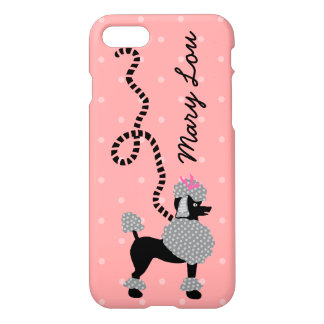 Poodle Skirt Retro Pink and Black 50s Personalized iPhone 7 Case