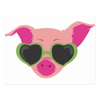 Pop art Piggy Postcard