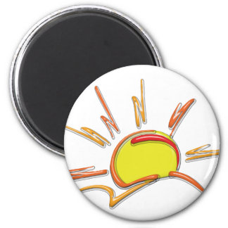 Porcelain Sunrise 2 Inch Round Magnet