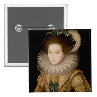 Portrait of a Lady, possibly Mary Queen of Scots ( 2 Inch Square Button