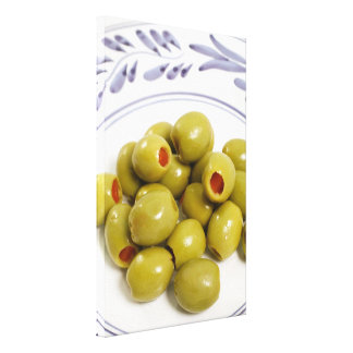 Portuguese green olives canvas print
