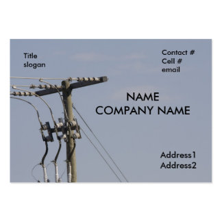 power line pole large business card