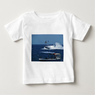 Powerboat and a helicopter tee shirt