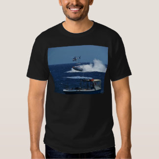 Powerboat and a helicopter tshirts