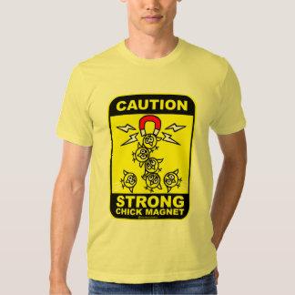 Précaution ! aimant fort de poussin t-shirt