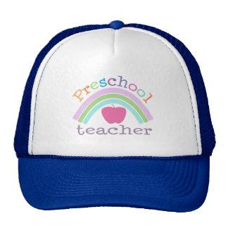 Preschool Teacher Rainbow Trucker Hat