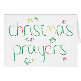 Prières de Noël Carte De Vœux