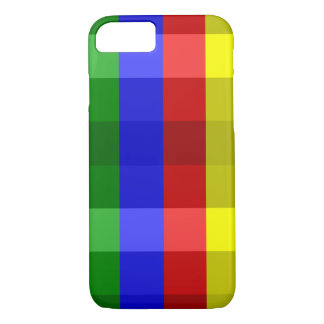 Primary Colors, Checks-iPhone 7 Case