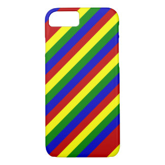 Primary Colors,Diagonal Stripes-iPhone 7 Case