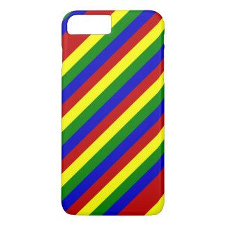 Primary Colors,Diagonal Stripes-iPhone 7 Plus iPhone 7 Plus Case
