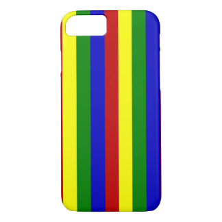 Primary Colors,Thin Stripes-iPhone 7 Case