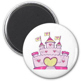 Princess castle 2 inch round magnet