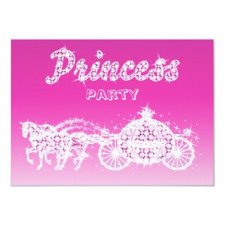 "Princess Horses & Carriage Birthday Party 4.5"" X 6.25"" Invitation Card"