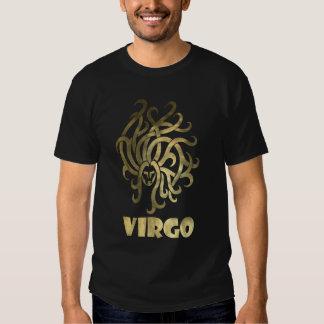 Printed Rustic Gold Virgo Maiden T-Shirt