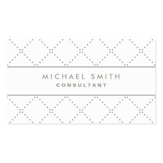 Professional Elegant Dot Pattern White Groupon Business Card