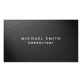 Professional Elegant Modern Black Plain Metal Business Card