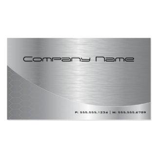 Professional Elegant Modern Brushed Silver Busines Business Card