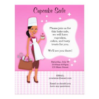 Professional Fun Baking Bake Sale Custom Flyers