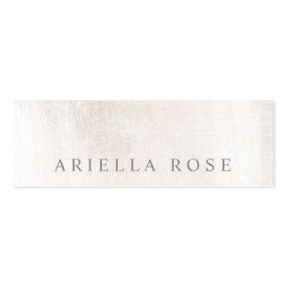 Professionnel de marbre blanc balayé élégant carte de visite petit format