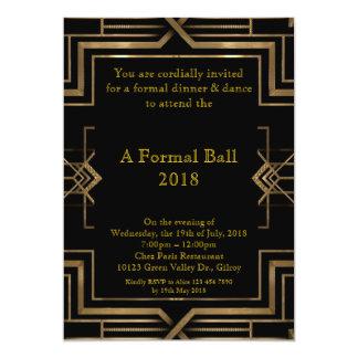 "Prom senior formal, great Gatsby style 5"" X 7"" Invitation Card"