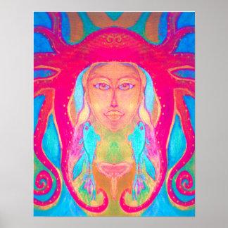 Psychedelic Art Underwater Hippie Fish 60s poster