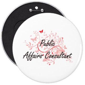 Public Affairs Consultant Artistic Job Design with 6 Inch Round Button
