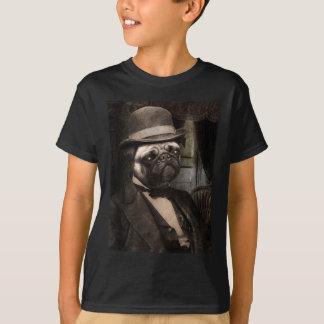 Pug Dog Dapper Gent T-shirt