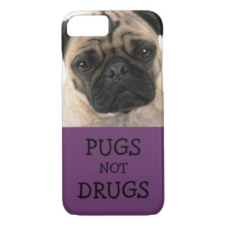 Pugs Not Drugs - Purple iPhone 7 Case
