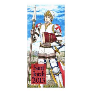 Punt of llibre Cavaller Sant Jordi 2013 Full Color Rack Card
